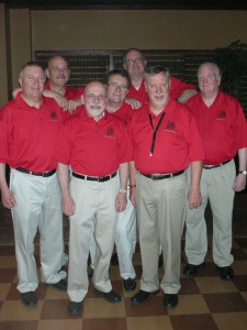 From left to right: David L. Wells, David Schock, Dave Ksycki, Jim Everhart, Paul Keen, Ken Huisman, Dave Kadwell